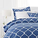 quilt covers - Pinzon 300-Thread-Count 100% Cotton Cool Percale Duvet Cover Set, Twin, Bijou Blue