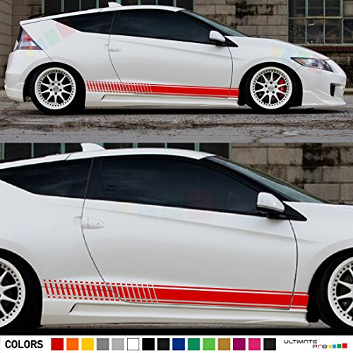 Set of Racing Side Stripes Decal Sticker Graphic Compatible with Honda CR-Z Hatchback - Coupe Honda Cr Z Hybrid