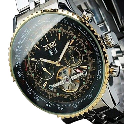 Fashion Stainless Steel Automatic Mechanical Men Business Wrist Watch, Gift for Men ()