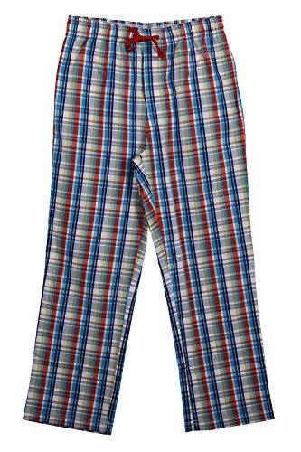 Godsen Men's Cotton Woven Pants Sleep Pajama Bottoms (L, - Mens Woven Trousers