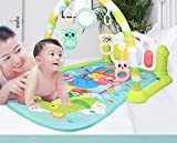 KUANDARM Light Green Baby Playmat with Pedal Piano