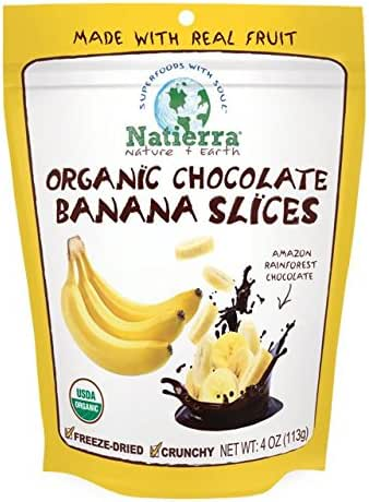 Dried Fruit & Raisins: Natierra Chocolate Banana Slices