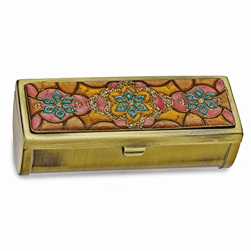 Enameled Lipstick Case with Mirror - Gold Enameled Star Shopping Results
