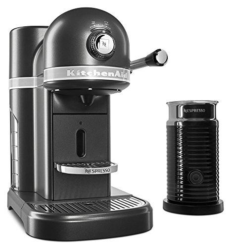 KitchenAid KES0504SZ Nespresso Bundle Espresso Maker, 1.3 Liter, Slate
