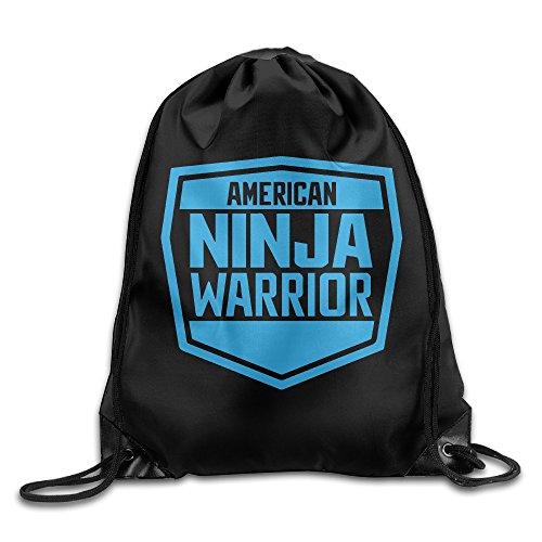 American Ninja Warrior Logo Drawstring Backpack Bag White
