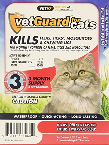 Vetiq VetGuard Flea & Tick Drops for Cats 51LCjm5adqL