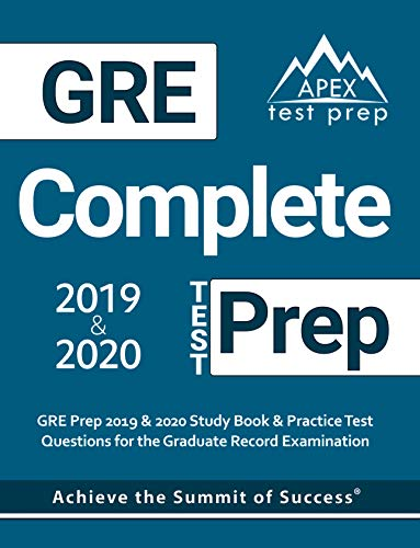 Best Gre Prep Book 2020.Gre Complete Test Prep Gre Prep 2019 2020 Study Book Practice Test Questions For The Graduate Record Examination