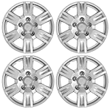 """BDK Hubcaps Wheel Cover, 17"""" Silver Replica Cover, OEM Replacement (4 Pieces)"""