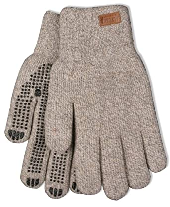 Kinco 5299 Alyeska Ragg Wool Lined Full Finger Glove with PVC Dots, Work, Large, Tan (Pack of 6 Pairs)