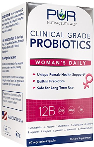 Woman's Clinical Grade Probiotics * 12 Billion CFUs/Serving * 10 Strains * Built-In Prebiotic * 2 Month Supply * Recommended and Safe for Daily Use * All Natural 100% Made in USA