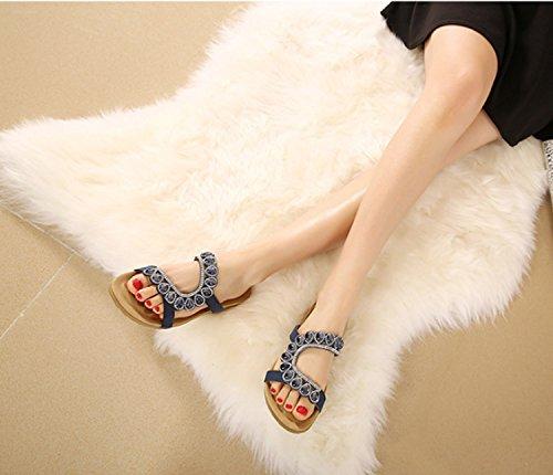 delle signore Flip di Blue scarpe estate donne delle donne casuali estate di Flops di di donne delle estate vibrazione delle Huaishu delle pwq0dHTq