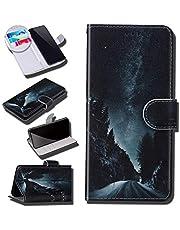 Urhause Fodral kompatibelt med Galaxy S7 fodral glansigt PU-läder plånboksfodral med kortfack skydd galax tecknad plånbok ställ magnetisk stängning stötsäkert fodral folio flip fodral
