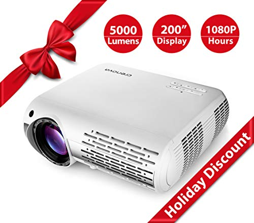 Electronics : Crenova XPE660 Upgraded Home Entertainment Video Projector - Full 1080P HD Supported - 5,000 Lumens Create Vivid Brightness - 1280X800 Native Resolution Gives Big-Screen Images with Unmatched Clarity