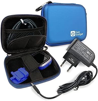 DURAGADGET Funda Azul Compatible con Vtech Kidizoom Smartwatch/DX + Cargador MicroUSB + Mini Mosquetón | para Colgarla Donde Desee - Resistente A ...