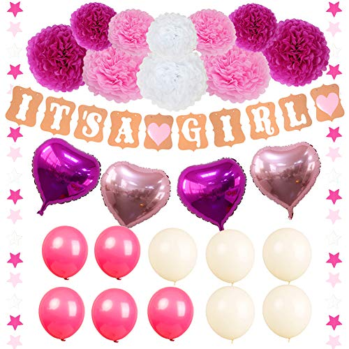 Fulol It's a Girl Party Decoration Set -