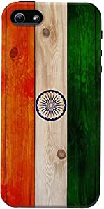DailyObjects Indian Wooden Flag Case For iPhone 5/5S (Back Cover) Multicolor