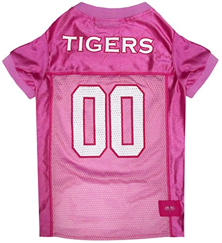 Pets First Collegiate Auburn Tigers Dog Jersey, Large, Pink (Blue Auburn Jersey)