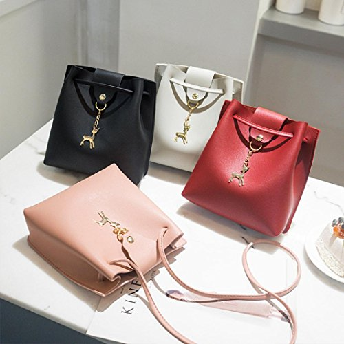 Bag Deer 1PC Bucket Black Phone BANAA Fashion Shoulder Crossbody Bag Cover Bag Women Coin Solid Bag XxXRECvwq