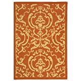 Safavieh Courtyard Collection CY2663-3202 Terracotta and Natural Indoor/Outdoor Area Rug (2'7″ x 5′) Review