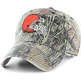 OTS NFL Cleveland Browns Men's Challenger Adjustable Hat, Mossy Oak, One Size