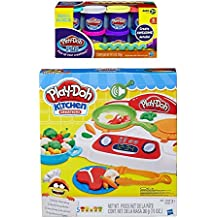 Play-Doh Kitchen Creations Sizzlin' Stovetop + Play Doh Plus Compound Bundle