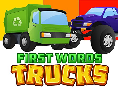 First Words/Trucks Video Book For ()