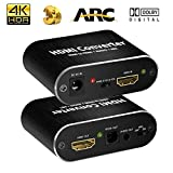 4K HDMI Audio Extractor, HDMI to HDMI + Digital Optical TOSLINK (SPDIF) + 3.5mm Audio Stereo Audio Converter Adapter Support ARC 3D PS4 Pro Roku Xbox One Etc