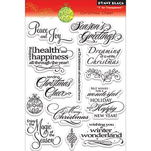 Penny Black 30140 Christmas Cheer Clear Stamp