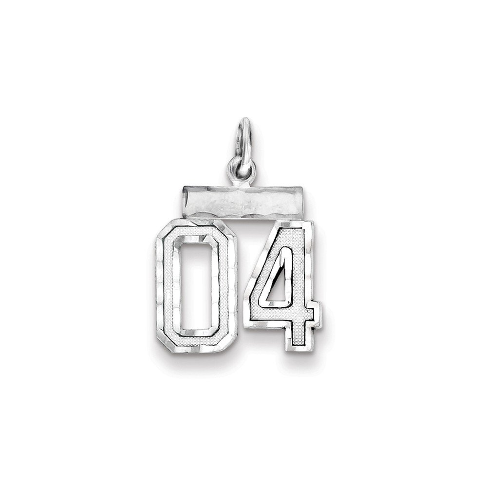 22 mm x 7 mm Mireval Sterling Silver Small Fancy-Cut #04 Charm