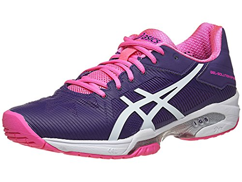 ASICS Women's Gel-Solution Speed 3 Tennis Shoe, Parachute Purple/White/Hot Pink, 8.5 M US
