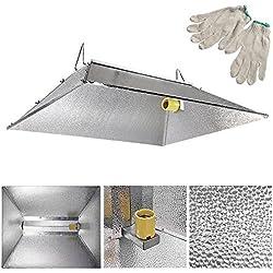 """35""""x29"""" Indoor Grow Light Reflector Hood for 250 400 600 1000 Watt HPS MH Tent"""