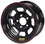 Bassett Wheel D-Hole DOT Black Powder Coat - 15 x 8 Inch Wheel