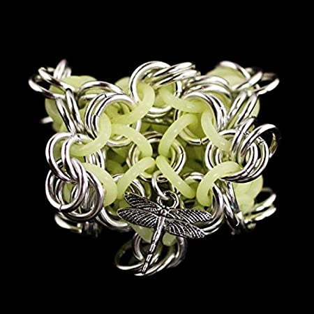 Dragonfly Footbags Glow in The Dark Chainmail Hacky Sack