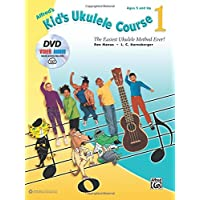 Alfred's Kid's Ukulele Course 1: The Easiest Ukulele Method Ever!, Book, DVD and Online Audio and Video