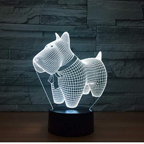 Buntes 3D Nachtlicht Lovely Dog Model Touch Lamp Led 7 Color Changing Animal Visual Led Night Lights For Kids Toy Desk…