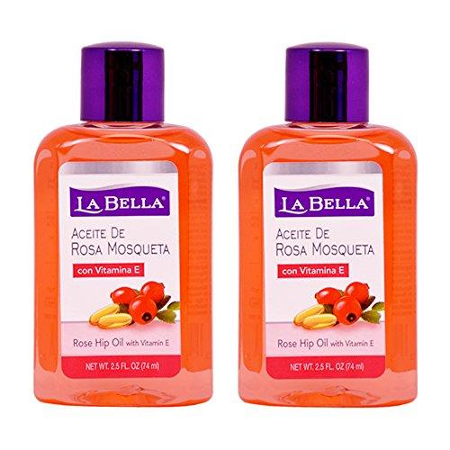 La Bella Rosa Mosqueta Rose Hip Oil With Vitamin-E 2.5 Ounce (73ml) (2 (Rosa Mosqueta Rose)