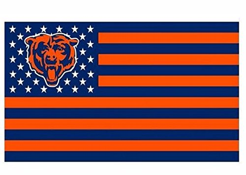 NFL Chicago Bears Stars and Stripes Flag Banner - 3X5 FT - USA FLAG by Chicago Bears Stars and Stripes