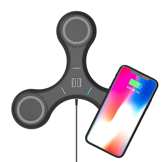 save off 3ea4a ddece Triple Wireless Fast Charger Pad for iPhone X/8/8 Plus, Qi Ultra ...