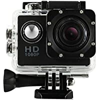 Action Camera, TONSEE Mini Waterproof Sports Recorder Car DV Action Camera Camcorder 1080P HD (Black)