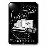 3dRose lsp_153614_1 shanghái Lentheric pares Vouveau Parfume negro y plata Póster Perfume interruptor de palanca única