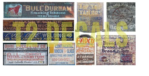 N Scale Ghost Sign Building / Structure Decals #36, used for sale  Delivered anywhere in USA