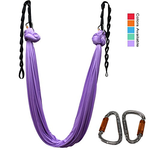 Aerial Yoga Hammock For Aerial Yoga Swing Inversion Therapy Premium Safe hommock kit 5.5 yard with beginner poses