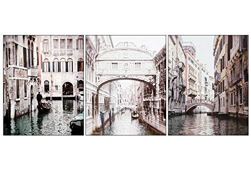Italy Photograph - Venice Italy Three Travel Photos Bridge of Sighs 8x10 print