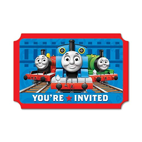 Bargain World Thomas and Friends Invitations (8/pkg) (with Sticky Notes) ()