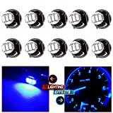 CCIYU 10 Pack T4.2/T4 Blue 3014SMD Neo Wedge A/C Climate Control LED Light Bulbs