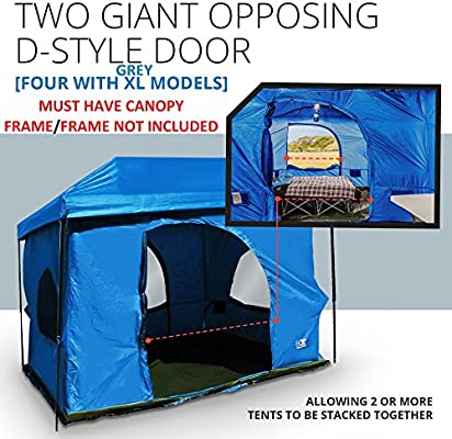 finest selection aad3c fe2e1 The Original-Authentic Standing Room Family Cabin Tent 8.5 FEET OF HEAD  ROOM 2 or 4(XL models)Big Screen Doors Fast Easy SetUp,Fits Most 10x10 ...