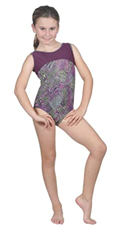 0df2183d43 Delicate Illusions High End Luxury Lycra Girls Sleeveless Tank Fitness  Gymnastics Leotard Outfit Apparel L (