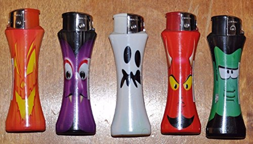HALLOWEEN 25 X NULITE HALLOWEEN Curve Lighters/Electronic Refillable Lighter
