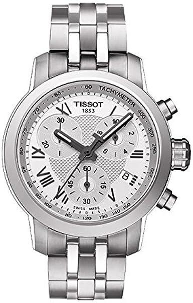 Tissot T-Sport del Hombre t055.217.11.033.00Plata Swiss Reloj cronógrafo de Acero Inoxidable