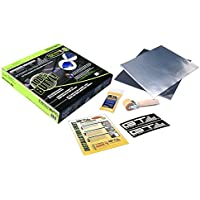 20sqft GTMat Onyx 100% Butyl Car Hood Insulation Kit (12 x 12 Sheets) Sound Deadener Material with Application Roller and Degreaser